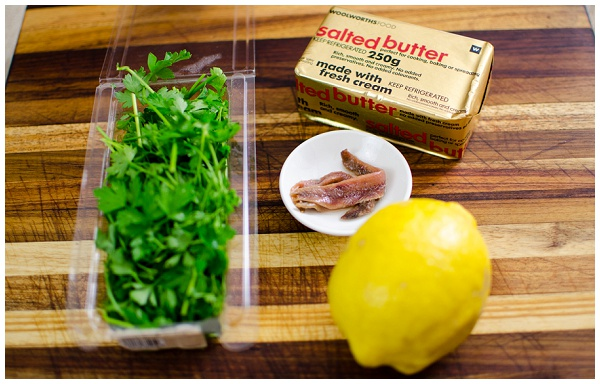 Ingredients for Anchovy butter