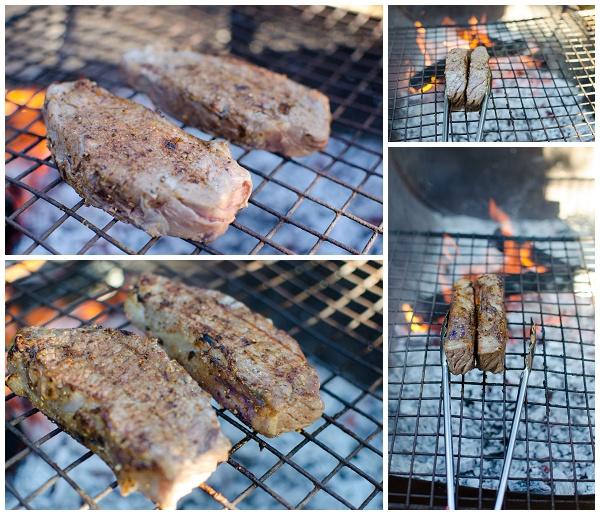 Braaing steak on all sides