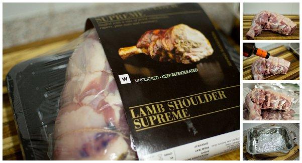 prepping lamb